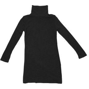 Mujer Vestido de manga larga de cuello tortuga tejida Sweater Dama sexy  ropa de Ocio - d659f0ac32aa