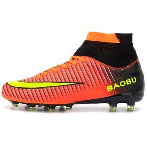 best website 9c565 cb019 Zapatillas Hombre De Fútbol Con Clavo Largo Y Colores - Naranja