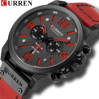 CURREN 8314 Reloj Deportivo Para Hombre Rojo