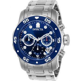 0521f419b6ca Invicta - Reloj 0070 Pro Diver Collection Analog Japanese Quartz  Chronograph Silver Para Hombre