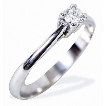 ffbaf036548b Anillo De Compromiso Solitario Diamond Desing Diamante Natural 10 Puntos  Con Montadura De Oro Blanco De
