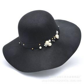 Moda Mujer Sombreros Británicos Retro Modelos Salvajes Sombreros Damas 0f9e17463ee