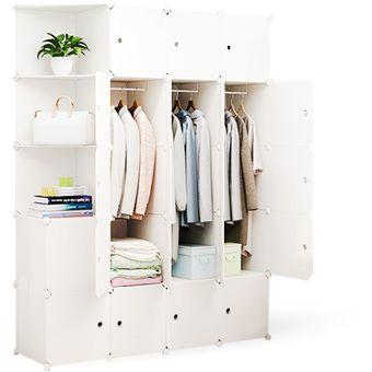 Closet Modular (20 Cubos) - Blanco 45X175X140 Cm