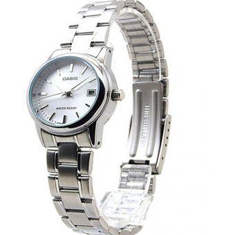 b1a081923f9b Reloj Casio Mujer LTP-V002D-7A Análogo Pulso Metálico Indicador De Fecha