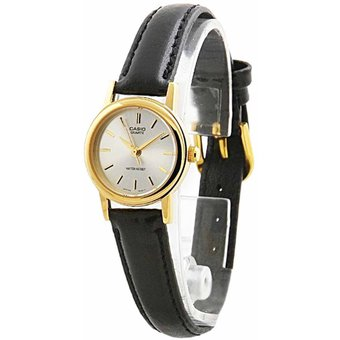 Compra Reloj Casio Para Mujer Ltp-1094q-7a Banda De Cuero Diseño ... 507d298fa707