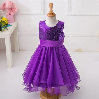 Compra Morado Fiesta Princesas Vestido Online Niña Casual Para 1cP1r4q