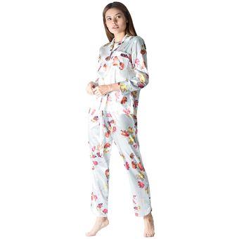 c4fb30c61c Compra Conjunto Pijama Mujer Noite Seda Verde Menta online