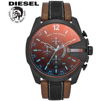 14ec17ce9850 Agotado Reloj Diesel Mega Chief DZ4305 Cronometro Cristal Iridiscente  Correa De Cuero – Marrón