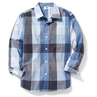 Compra Camisa Manga Larga Old Navy Para Niño Estilo  206863 Cuadros ... d49dd295d37f2
