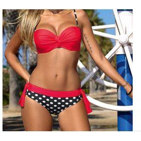 2182b4cf4b4 Sexy Bikinis Mujeres Traje De Baño - Punto Rojo