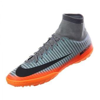 135ab89b3f2f4 Agotado Tenis Fútbol Hombre Nike MercurialX Victory VI TF-Gris Con Naranja