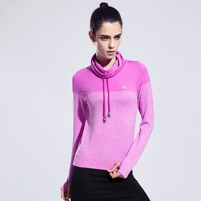 Mujeres Running Camisetas De Manga Larga De Yoga Tops De Gimnasio Camisetas  - Púrpura 7d3215f3c519f