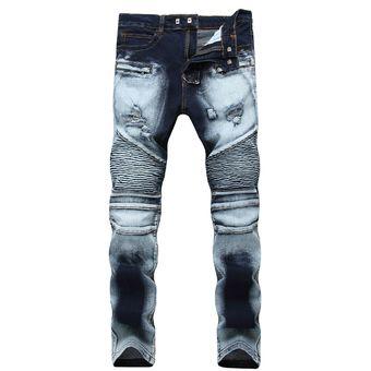 Compra Pantalones Hombre Pantalones Slim Denim Distressed online ... 5774cd8e3a7