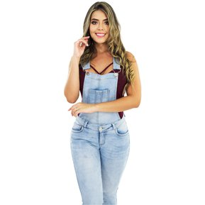 f09840262 Overol Mujer Pink Star Jeans Levantacola Colombianos