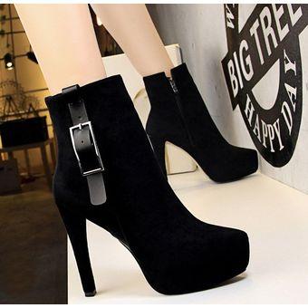 07b07d64 Compra Zapatos de tacon Botas de Gamusa Fashion-Cool para Mujer ...