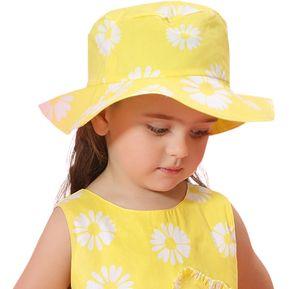 Estilo Fresco De Algodón Amarillo De La Margarita Del Sombrero Del Cubo  Impreso Para El Tamaño 99a53d5e73e