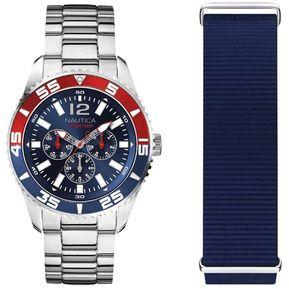 2f19c59cff0d Reloj Análogo marca Nautica Modelo  NAPWHC002 color Azul   Rojo para  Caballero