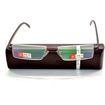 7361621c15 Compra Hombres marrón con gafas lentes de lectura flexibles +2.0 ...