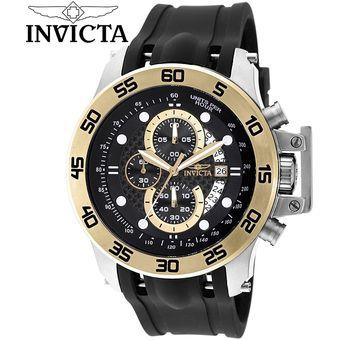 8e7a7efbf136 Reloj Invicta I-Force 19253 Cronometro Acero Inoxidable Correa Silicona -  Negro