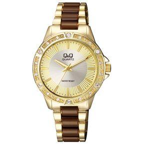 70063051d25c Reloj Para Dama Marca Q Q Modelo F533J010Y Análogo Resistente Al Agua  Elegante Color Combinado Original