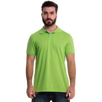 5568893d17060 Compra Camiseta Tipo Polo Hamer Color Verde Limon online
