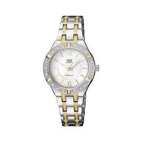 edc84b31a444 Reloj Q q Para Dama F557-401Y Pulso En Acero Bicolor Original
