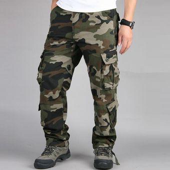 Pantalones De Camuflaje Militar Para Hombre Pantalones Cargo De Varios Bolsillos Pantalones Para Correr De Estilo Hip Hop Ropa Urbana Pantalones Tacticos De Camuflaje Venta Al Por Mayor Chun Army Green Linio