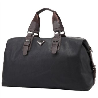 nuevo concepto c4b3a 99919 Bolsa De Viaje Para Hombres, Gran Capacidad, PU Cuero - Negro