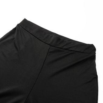 Conjuntos De Dos Piezas Para Damas De Cuello Alto Sin Mangas Sexy Top Corto Con Apertura De Cintura Alta Dividir Pantalones Fiesta Club De Moda Conjunto De Mujeres Negro Linio Peru
