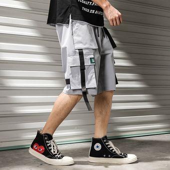 Pantalones Cortos De Carga Para Hombre Pantalones Cortos Casuales Comodos De Cintura Elastica Con Cordon Pantalones