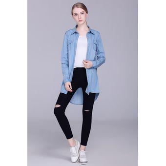 Denim Compra Cotton 2017 Long De Moda Nueva Primavera Mujeres Loose 0wYUvx0r