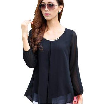 7f51ab03339e Agotado Blusa Camiseta Yucheer Casual Elegante Ropa Para Dama Mujer - Negro