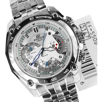 4f07cbe19727 Compra Reloj Casio Edifice EF-550D-7A-Plateado con Blanco online ...