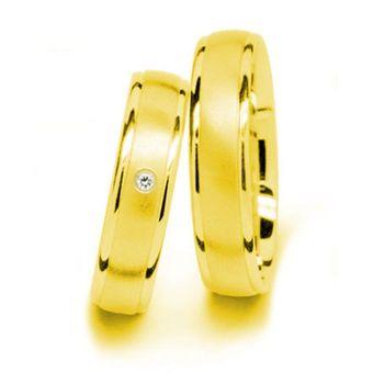 cb2e1e3db6c5 Argollas De Matrimonio Fashion Boutique De México Modelo A29 De Oro  Amarillo De 14K Con 1