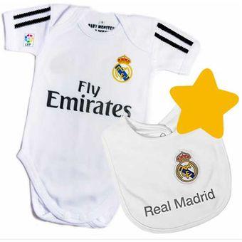 f6d16d0ce68c Set Ropa Para Bebe Body Bodie Y Babero Real Madrid