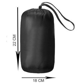 Chaqueta Plumas Ultraliviana con capota desmontable Con Bolsa Negra