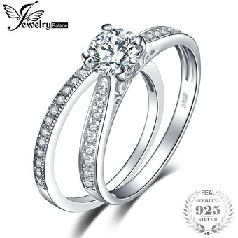 b3f1bad0e4c2 Anillo De Compromiso Jewelrypalace Circonio Cúbico 925 Plata Esterlina