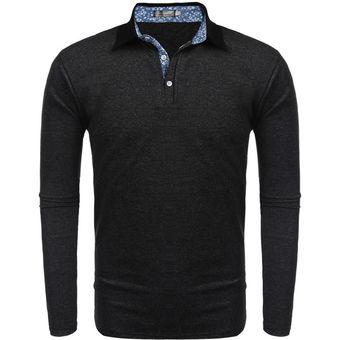 f90acb2769 Compra Casual Polo Camiseta De Manga Larga Para Hombre-negro online ...