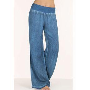 cc53b24966 Pantalones acampanados para mujer de vaquero y estilo simple - Azul