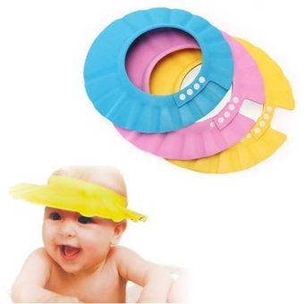 1116388499768 Gorro Visera De Ducha Para Baño Bebé Niño Protege Sus Ojos Del  Shampoo-Amarillo