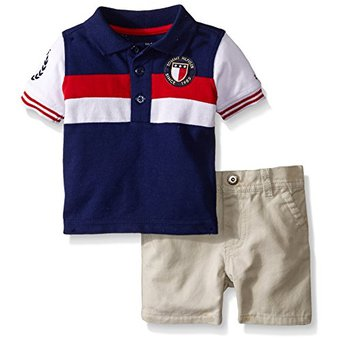 670b79680fb8 Conjunto Short Polo Cuello Camisa TOMMY HILFIGER 3-6 Meses