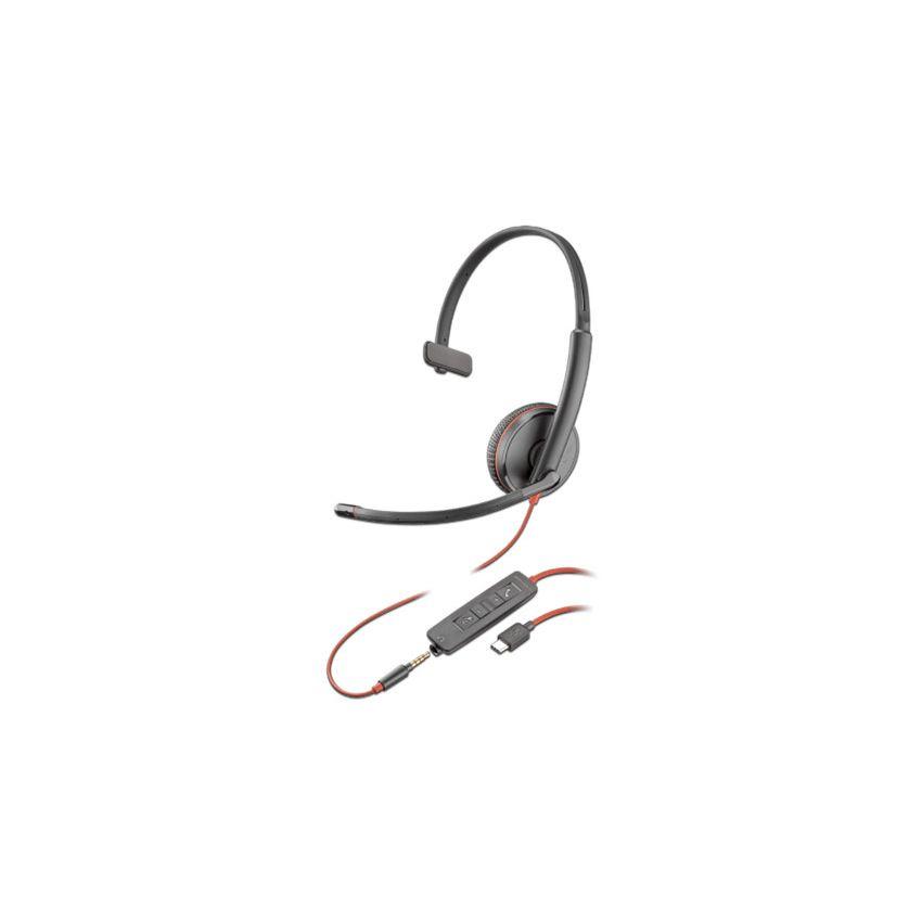 Audífonos Con Micrófono Plantronics Blackwire C3210,  Respuesta De Frecuencia 20Hz-20, 000Hz,  3.5mm / USB. 209744-101