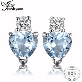 a5bc7f55c82d Pendientes Jewelrypalace Genuino Aguamarine Topacio 925 Plata Esterlina