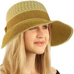 Sombrero Visera Playa Sol Viaje Elegante Gorro Ajustable CAQUI 6f16af4bec1e