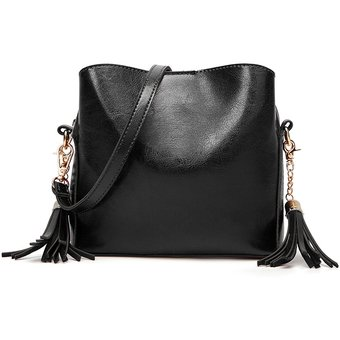 fdf01384 Agotado Bolsos Mujer Con Asas Bolsas Satchel Elegante PU Cuero Bolso De  Dama-negro