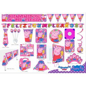 Kit Piñata Peppa Decoración Completa