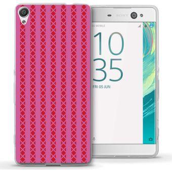 7d0daab8ee6 Compra Funda Para Celular Sony Xperia XA - Lineas Rosa/Rosa online ...