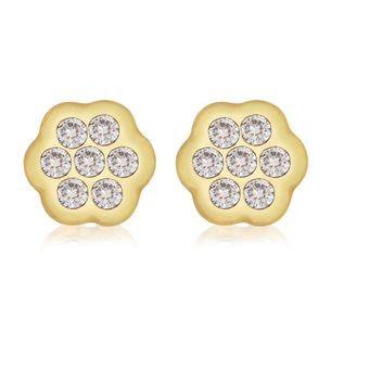 475646c5ff74 Compra Aretes Broquel Flor Oro Amarillo 18K online
