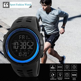 786d4b7b27f8 Compra Relojes Hombre Deportivo Sumergible Cronómetro Temporizador ...