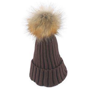 La moda Otoño Invierno Gorro Capuchón exterior tejer lana Beanie Sombreros  Color café 86ca99d12c1